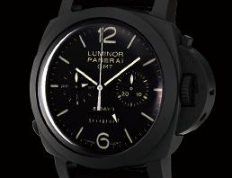 ルミノール 1950 8デイズ GMT クロノグラフ モノプルサンテ Q番 PAM00317 セラミック